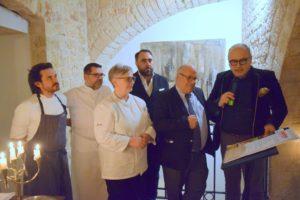 """Gli chef Maria Cicorella, Angelo Sabatelli ed Antonio Zaccardi hanno firmato il """"Manifesto"""" di grandichef.com"""